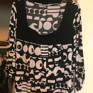 Women's 2x NY collection shirt, mirror dot effect